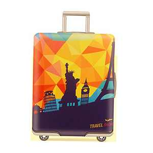 Fit for 29-32 Inch Luggage cover Travel Suitcase Cover Protector Elastic Suitcase Cover Washable Luggage Anti-Scratch Stretchy Protector (World Travel, XL)