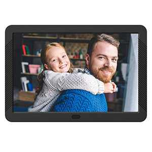 Atatat Digital Photo Frame with 1920x1080 IPS Screen, Digital Picture Frame Support Adjustable Brightness,Photo Deletion,1080P Video,Music,Slideshow,Remote,16:9 Widescreen (8 Inch)