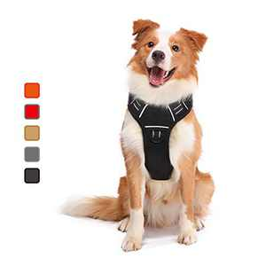 ATOPARK Dog Harness No-Pull Pet Harness Adjustable Comfortable Harness with Handle Outdoor Pet Vest Reflective Oxford Soft Breathable Vest Easy Control for Small Medium Large Dog