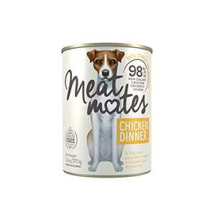Meat Mates BPA-Free & Gelatin-Free Canned Dog Food, Chicken Dinner 13oz 12 Pack
