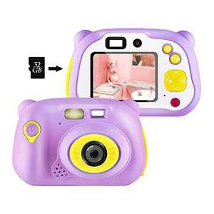 [32GB Memory Card Include] Kids Camera, Kids Digital Camera 12 Megapixel WiFi Kids Digital Camera for 2020 for Kids (Pink)