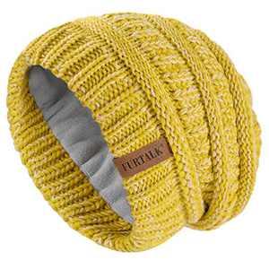 FURTALK Kids Girls Boys Winter Knit Beanie Hats Bobble Ski Cap Toddler Baby Hats 2-8 Years Old