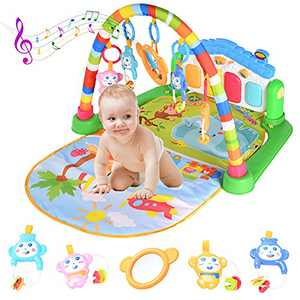 WYSWYG Baby Play Mat for Floor, Baby Play Gym Activity Mat Kick and Play Piano Gym Activity Center for Baby with Music and Light 0-12 Months