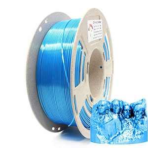 Reprapper Blue Silk PLA Filament for 3D Printer & 3D Pen 1.75 mm (± 0.03 mm) 2.2 lbs (1 kg)