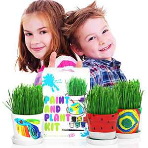 Kids Gardening Kit - Painting Kits for Kids - Crafts for Kids Ages 4-8 - Educational Plant Growing Kit for Kids - Easter Gifts for Kids - Stem Activities for Kids Ages 5-7