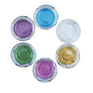 Round Eyelash Cases Empty Bulk 6pcs Clear Mink Lashes Packaging Compact Powder Container
