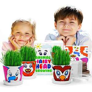 Art Projects Kids Garden - Plant Growing Kit for 5 Year Old Girls - Crafts for Kids Ages 8-12 - Birthday Gift For 6 Year Old Girl or Boy - Gardening Kit for Kids - Arts and Crafts Toys Stem Activities