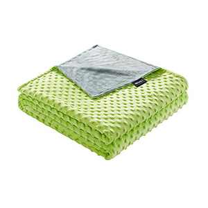 ZonLi 41''x60'' Prasinous Minky Dot Duvet Cover, Removable Duvet Cover for Weighted Blanket