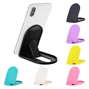 Cell Phone Stand, 6pack Portable Foldable Desktop Cell Phone Holder Adjustable Universal Multi-Angle Cradle for Desk Tablet iPad Mini iPhone X/8/7 Plus/7/6s/6 Samsung Galaxy, Black, White, Blue