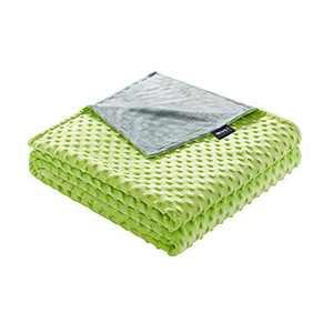 ZonLi 36''x48'' Prasinous Minky Dot Duvet Cover, Removable Duvet Cover for Weighted Blanket