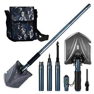 Zenph Camping Shovels, Military Folding Shovel 34.65inch Survival Shovel Folding Multi-Purpose Camping Shovel for Hiking Backpack Gardening Tools, Emergency with Carrying Bag-88CM/34.65inch