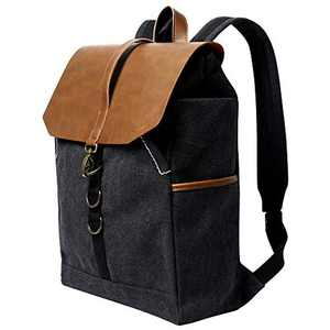 Laptop Backpack 15.6 inch, G-FAVOR Womens/Mens Canvas Backpack School Bag, Computer Backpack for Travel College Business