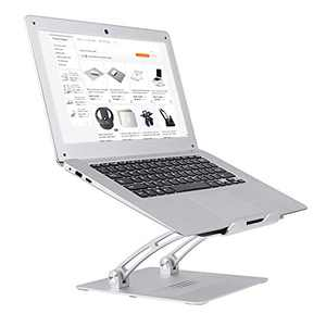 """Laptop Stand for Desk, Multi-Angle Adjustable Portable Anti-Slip Mount with MacBook, Air, Pro, Dell XPS, Samsung, Alienware All Laptops 10-17.3"""" - Silver"""