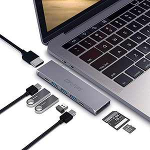 Cofuture-USB-C-HUB-Adapter,8-in-1 Docking Station with Thunderbolt 3,USB-C Data Port,4K HDMI,3 USB 3.0 and SD/TF Card Reader,Type C Hub Compatible with MacBook Air 2020,MacBook Pro 2020/2019/2018/2017
