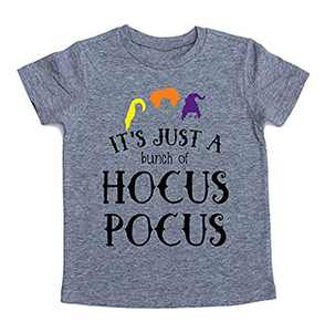 UNIQUEONE Baby Girls Boys It's Just A Bunch of Hocus Pocus Halloween T Shirt Sanderson Sister Graphic Print Tee Shirts Gray