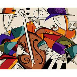 """DIY Paint by Numbers Kit for Adults - Modern Instruments 