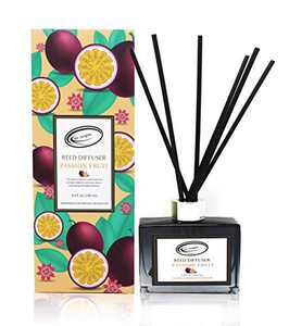Air Jungles Passion Fruit Fragrances Reed Diffuser Set with Sticks, Scent Incense Oil, Essential Oil Air Freshener for Home, Office, Gym, and Room Diffuser, 3.4 fl. oz
