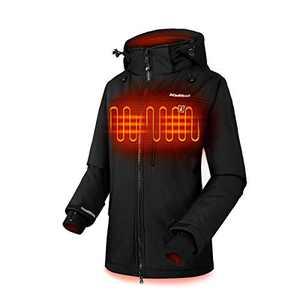 CLIMIX Lightweight Heated Jacket for Women w/7.4v Heated Jacket System, Machine Wash Black