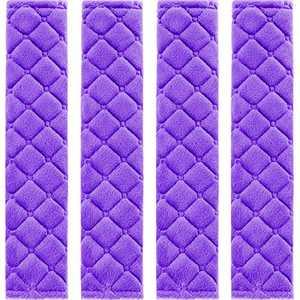 4 Pack Car Seat Belt Pads Seatbelt Protector Soft Comfort Seat Belt Shoulder Strap Covers Harness Pads Helps Protect Your Neck and Shoulder (Purple)