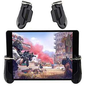 Mobile Game Controller for iPad, COCASES Sensitive Shoot Aim Tablet Gamepad Trigger Button for PUBG, Upgraded Version Compatible 4.5-12.9 inch Tablet & Smartphone