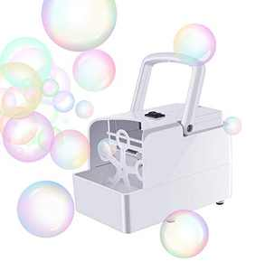 Blibly Bubble Machine Blower Automatic Bubble Machine for Kids Toddler Dog with 2 Speed Levels Powered by USB Charger or Batteries