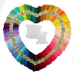 Embroidery Floss Embroidery Thread 100 Skeins Friendship Bracelets String with 12 Pieces Floss Bobbins
