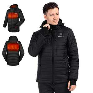 Heated Down Jacket | Lightweight Water Resistant Thickened Jacket w/7.4V Heated Jacket System