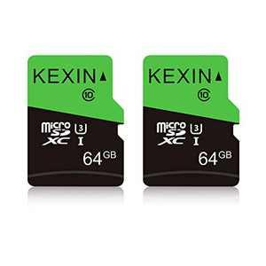 KEXIN 64GB x2 Micro SD Card MicroSDXC UHS-I U3 Full HD & 4K UHD Memory Card High Speed Flash TF Card - U3, Class 10