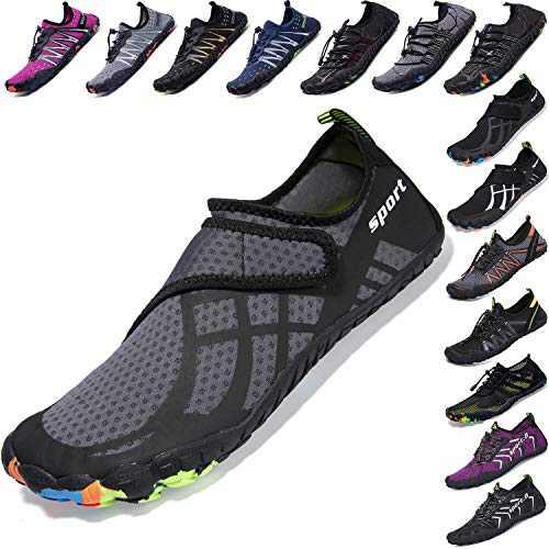 Mens Women Water Sport Shoes Barefoot Quick-Dry Aqua Socks for Beach Swim Surf Yoga Exercise, 9.5 M US Women / 8 M US Men