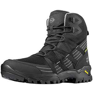 Wantdo Men's High Waterproof Hiking Boots, All Season Ankle Boots for Outdoor Camping Black 11 M US