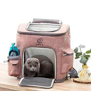 Viowey Portable Pet Carrier Backpack, Foldable Waterproof Dog Cat Backpack Pocket for Outdoor Traveling (Pink)