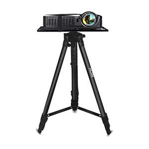 """Projector Stand,Laptop Stand,Aluminum Multifunction Tripod Stand with Tray Adjustable Tripod Laptop Projector Stand, 17"""" to 46"""" Universal Device Stand Perfect for Stage or Studio Use"""