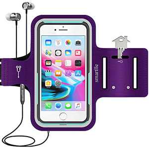 Smartlle Phone Holder for Running, Armband for Cellphone, iPhone 12/12 Pro/12 Pro Max/11/11 Pro Max/XR/XS Pro Max/8 7 6s Plus, Samsung Galaxy A/S/Note, LG, Moto, Up to 6.9'', for Gym, Workout-Purple