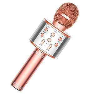 TRONICMASTER Wireless Karaoke Microphone Bluetooth, 3 in 1 Wireless Portable Handheld Mic Karaoke Machine for Christmas Home Birthday Party, Voice Disguiser Karaoke Microphone for Kids
