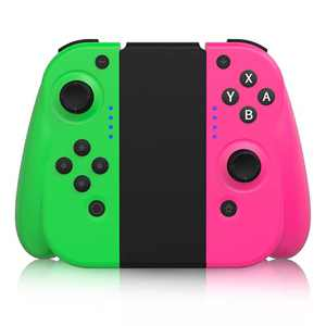 STOGA Wireless Controller for Nintendo Switch/Switch Lite, Replacement for Switch Joypad Compatible Console with Motion Control & Dual Shock with Joy-Con Controller Replacement–Pink/Green