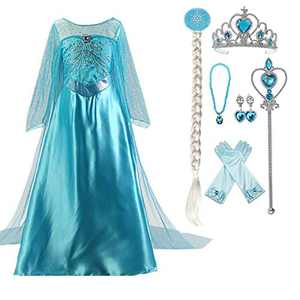 Enterlife Girls Princess Costume Sequin Fancy Princess Dress Up for Birthday Party Halloween