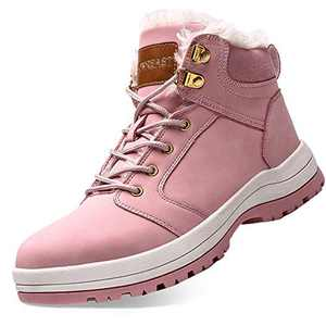 visionreast Womens Snow Boots Insulated Outdoor Hiking Shoes Fur Lined Warm Winter Boots Pink