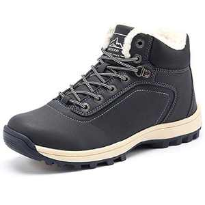YIRUIYA Mens Snow Boots Waterproof Warm Shoes Winter Boots Full Fur Lined(Blue,13 M US)