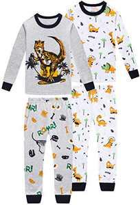 Pajamas For Boys Christmas Kids Children Dinosaurs Sleepwear Baby Clothes 4 Pieces Cotton Pants Set 2t