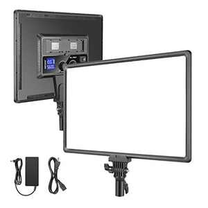 """Neewer Ultra-Slim LED Video Light, 40W 1100LM 3200K-5600K CRI95+ Dimmable Bi-Color 18"""" Soft Light Panel with LCD Display for Live Streaming/YouTube Video/Photography/Zoom Meeting(Battery Not Included)"""
