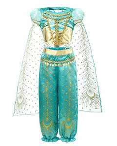 JiaDuo Girls Princess Costume Party Halloween Fancy Dress Up 3T Green