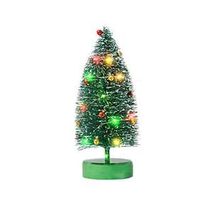 Varmax Prelit Christmas Tree Glitter Tabletop Tree 9.4'', Green