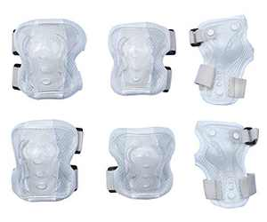 Dtown Kids Knee Pads Toddler Elbow Pads Boys Wrist Guards 3 in 1 Protective Gear Set for Roller Skates Bike Scooter Hoverboard (White)