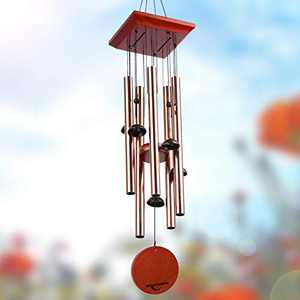 """Epartswide Wind Chimes for Outside,30"""" WindChimes Outdoors,Memorial Wind Chimes with 5 Aluminum Tubes & 3 S Hook Memorial Gift for Your Patio Porch Garden Backyard Decor"""