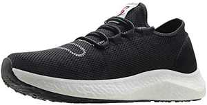BenSorts Mens Sneakers for Walking Comfortable Tennis Shoes for Gym Workout Training Jogging Size 12.5 Black White