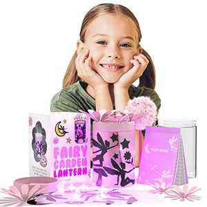 Fairy Lantern Craft Kits for Girls - Fairy Garden Kit for Kids - Fairy Decor - Fairy Jar Kits for Girls - Night Light for Kids - Fairy Toys for Girls - Fairy Crafts - Fairy Decorations - Fairy House