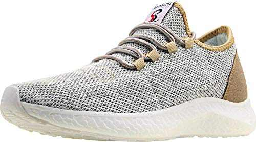BenSorts Men's Tennis Shoes Comfortable Walking Shoes Gym Lightweight Sneakers for Workout Size 8.5 Gold