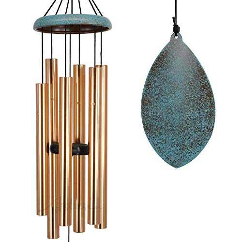 Wind Chimes for Outside, Memorial WindChimes Melody with Tuned Soothing Tone,Remembrance Windchime Unique As Sympathy Gift,Home Décor for Garden,Christmas.(Retro Wind Catcher)