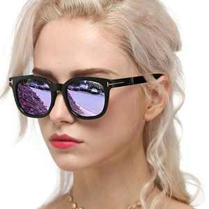Myiaur Classic Sunglasses for Women Polarized Driving Anti Glare 100% UV Protection (Black Frame / Purple Mirrored Glasses)