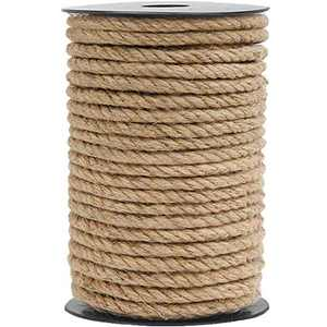 HOMYHOME Jute Rope Natural Jute Twine 8mm 394inch Rope Cord Craft for Packaging Arts Crafts Decoration Bundling Gardening Home Cat Scratching Post 32 Feet